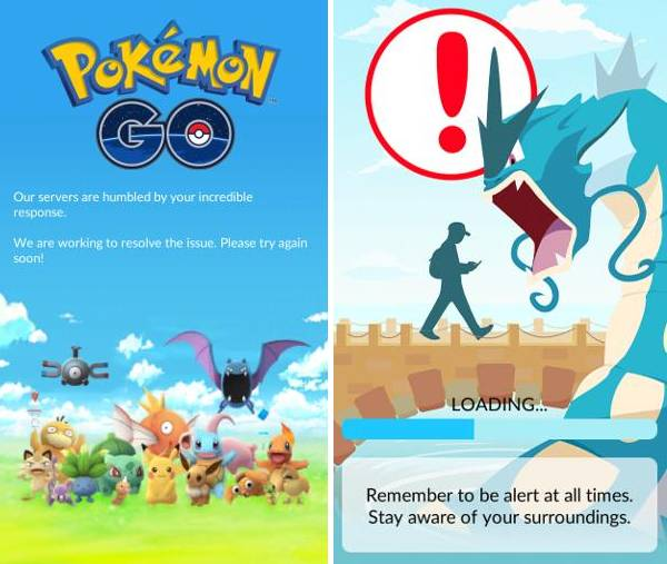 Pokemon Go servers down crash
