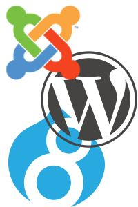 joomla vs wordpress vs drupal