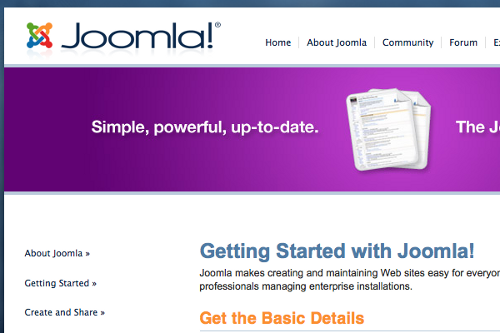 Getting Started with Joomla
