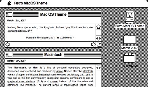 Retro Mac OS X Theme
