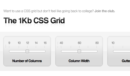 Check out these 10 awesome css grid systems the 1kb css grid malvernweather Gallery