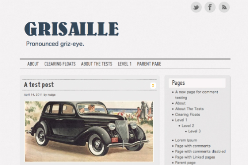 Grisaille Theme