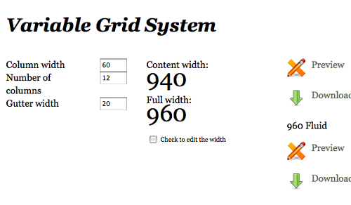 Variable Grid Screenshot