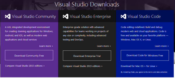 Visual Studio Download